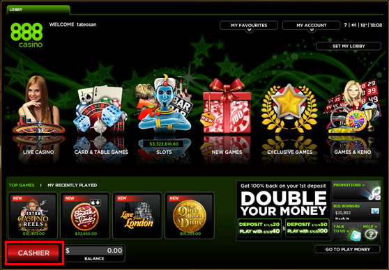888カジノの入金方法